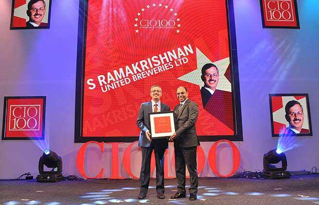 The Transformative 100: S Ramakrishnan, Divisional VP-IT at United Breweries receives the CIO100 Award for 2016