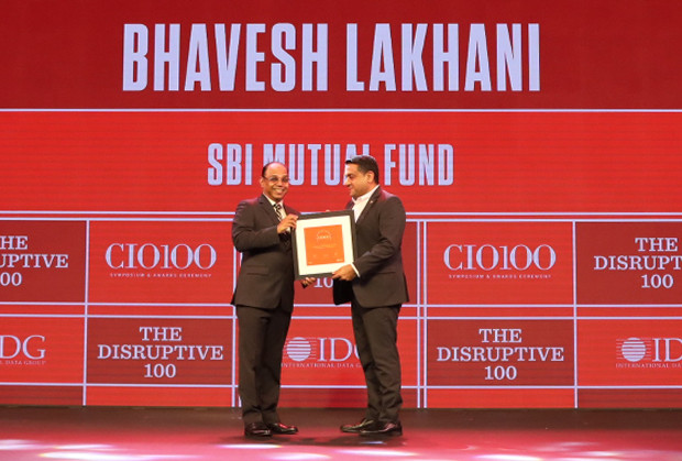 The Disruptive 100: Bhavesh Lakhani, SVP and Head IT, SBI Funds Management receives the CIO100 Award for 2019