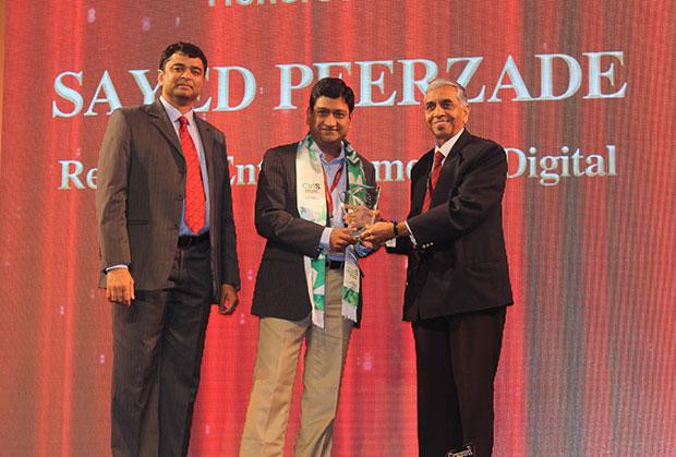 Business Transformer: Sayed Peerzade, VP-Technology of Reliance Big Entertainment receives the CIO100 Special Award for 2014 from in association with CtrlS