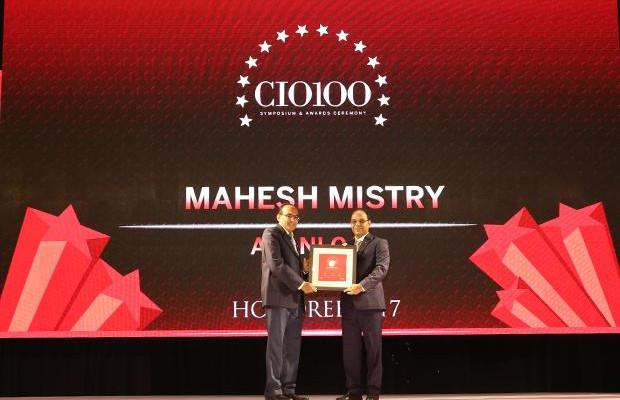 The Digital Innovators: Mahesh Mistry, Head IT (DGM), Adani Gas receives the CIO100 Award for 2017