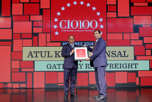 The Digital Architect: Atul Kumar Bansal, Group Head–IT, Gateway Rail Freight receives the CIO100 Award for 2018