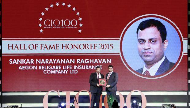 Hall of Fame: Sankaranarayanan Raghavan, COO of Aegon Religare Life Insurance receives the CIO100 Special Award for 2015