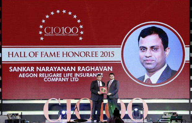 Hall of Fame: Sankaranarayanan Raghavan, COO of Aegon Religare Life Insurance receives the CIO100 Special Award for 2015
