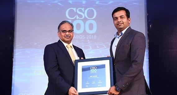 Amit Jaokar, EVP – IT, Choice International receives the CSO100 Award for 2018