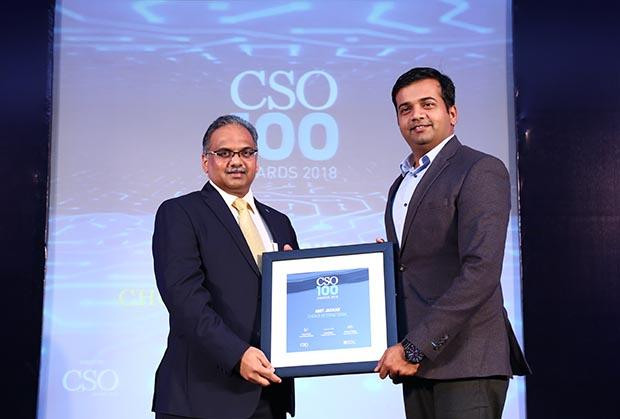 Amit Jaokar, EVP – IT, Choice International receives the CSO100 Award for 2018