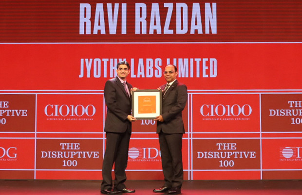 The Disruptive 100: Ravi Razdan, Head – IT & HR, Jyothy Labs receives the CIO100 Award for 2019