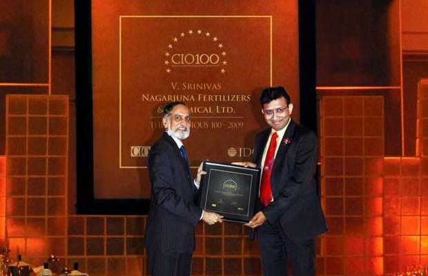 The Ingenious 100: V Srinivas, CIO of Nagarjuna Fertilizers & Chemicals receives the CIO100 Award for 2009