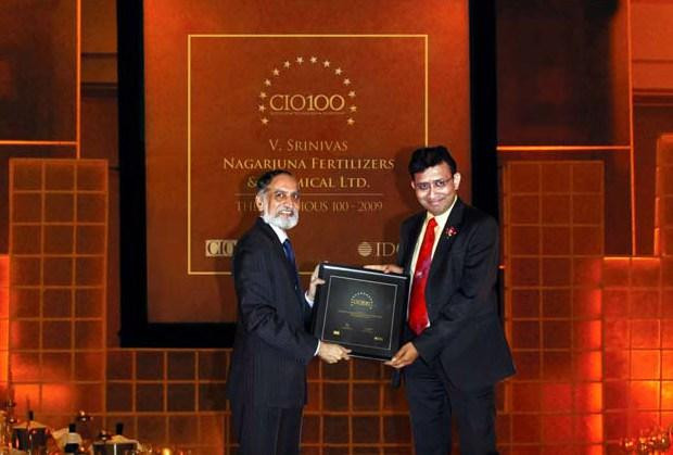 The Ingenious 100: V Srinivas, CIO of Nagarjuna Fertilizers & Chemicals receives the CIO100 Award for 2009