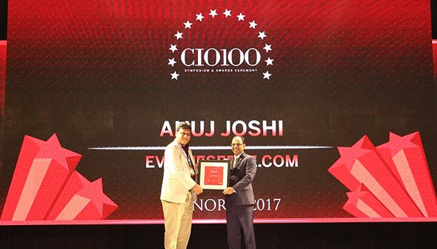 The Digital Innovators: Anuj Joshi, AVP-IT of Evalueserve receives the CIO100 Award for 2017