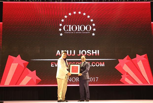 The Digital Innovators: Anuj Joshi, AVP-IT of Evalueserve receives the CIO100 Award for 2017