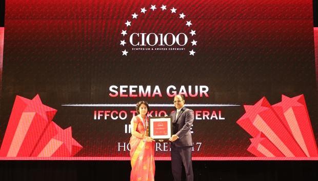 The Digital Innovators: Seema Gaur, Executive VP and Head-IT of Iffco Tokio General Insurance Company receives the CIO100 Award for 2017