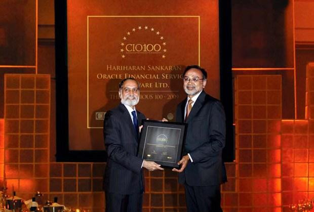 The Ingenious 100: S Hariharan, Senior Vice President - IT at Oracle Financial Services Software receives the CIO100 Award for 2009