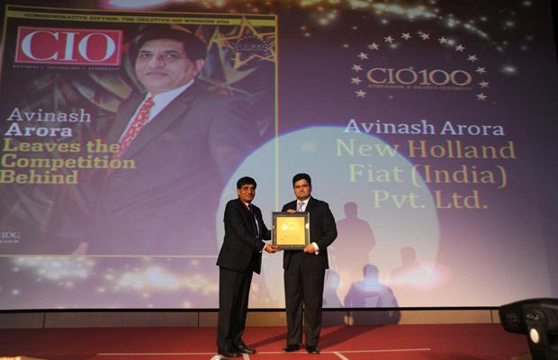 The Creative 100: Avinash Arora, Director- Supply Chain Management at New Holland Fiat (India) receives the CIO100 Award for 2011