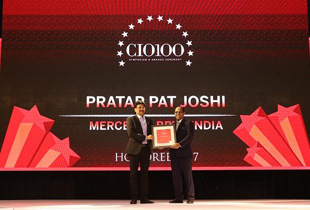 The Digital Innovators: Pratap Pat Joshi, CIO and IT-Head at Mercedes Benz India receives the CIO100 Award for 2017