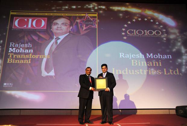 The Creative 100: Rajesh Mohan, Joint President-IT, Binani Industries receives CIO100 Award for 2011