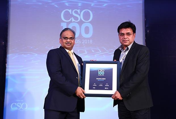Sanjeeva Kumar, Head – Infra & Information Security at Safexpress receives the CSO100 Award for 2018