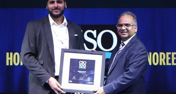 Irshad Saifi, AVP-IT of Havells receives the CSO100 Award for 2019