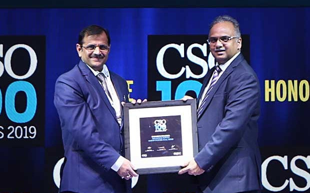 Satish K Sharma, Head- IT Infrastructure and CISO at Reliance Power (Sasan Power Coal Mine) receives the CSO100 Award for 2019