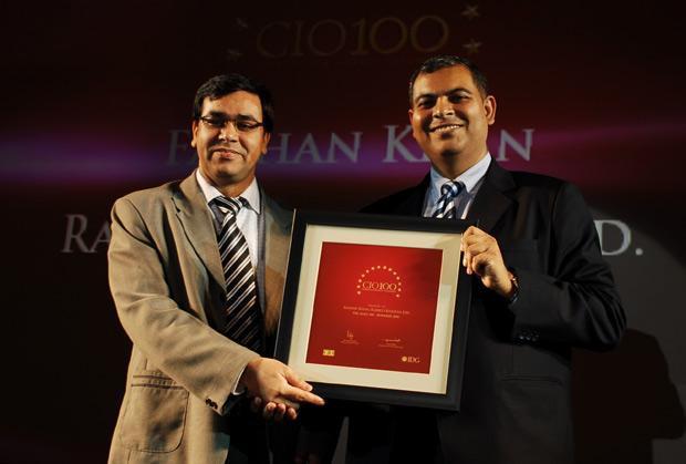 The Agile 100: Farhan Khan, VP - IT of Radico Khaitan receives the CIO100 Award for 2010