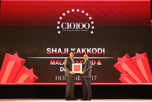 The Digital Innovators: Shaji Kakkodi, CIO, Malabar Gold & Diamonds receives the CIO100 Award for 2017