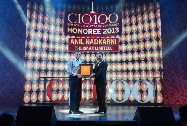 The Astute 100: Anil Nadkarni, CIO, Thermax receives the CIO100 Award for 2013