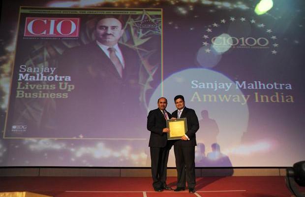The Creative 100: Sanjay Malhotra, VP-IT, BS and Ebiz of Amway India Enterprises receives the CIO100 Award for 2011