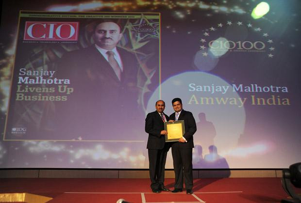 The Creative 100: Sanjay Malhotra, VP-IT, BS and Ebiz of Amway India Enterprises receives the CIO100 Award for 2011
