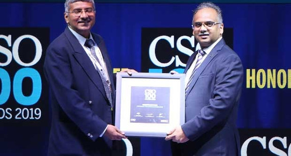 Vishwas Pitre, CISO of Zensar Technologies, receives the CSO100 Award for 2019