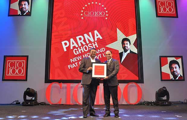 The Transformative 100: Parna Ghosh, Head ICT-India, Far East and Japan of CNH Industrial receives the CIO100 Award for 2016