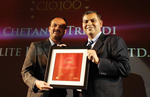 The Agile 100: Chetan Trivedi, GM of Sterlite Industries receives the CIO100 Award for 2010