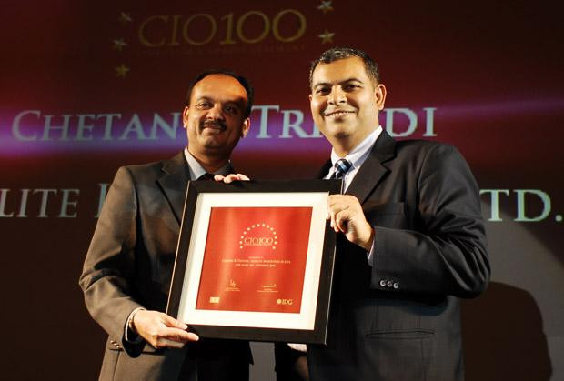 The Agile 100: Chetan Trivedi, GM of Sterlite Industries receives the CIO100 Award for 2010