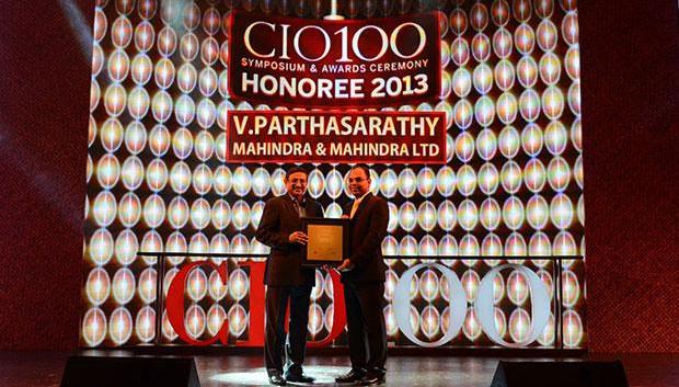 The Astute 100: V S Parthasarathy, CIO of Mahindra & Mahindra receives the CIO100 Award for 2013