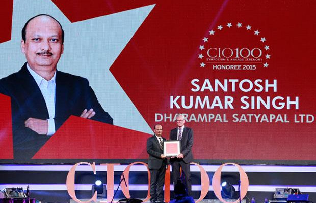 The Versatile 100: Santosh Singh, AVP IT of DS Group receives the CIO100 Award for 2015
