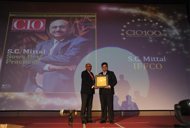 The Creative 100: Subhash Chand Mittal, Group CTO at Indian Farmers Fertiliser Cooperative (IFFCO) receives the CIO100 Award for 2011