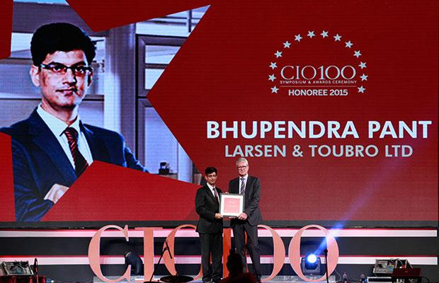 The Versatile 100: Bhupendra Pant, HEAD - IT, Larsen & Toubro receives the CIO100 Award for 2015