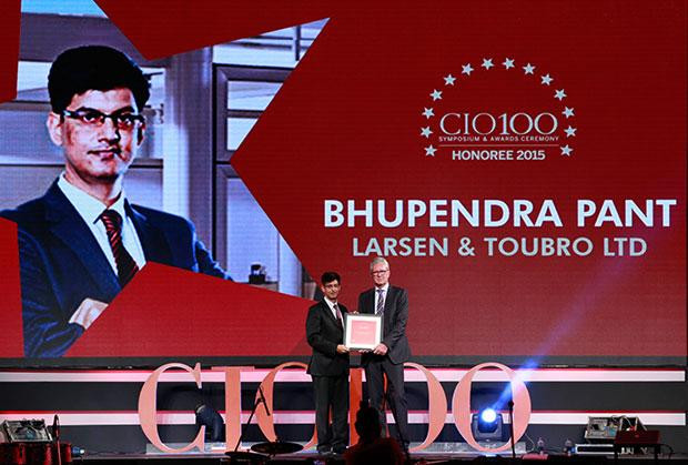 The Versatile 100: Bhupendra Pant, HEAD - IT, Larsen & Toubro receives the CIO100 Award for 2015