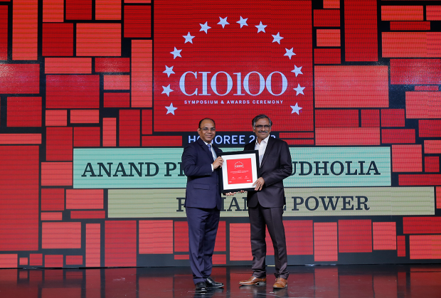 The Digital Architect: Anand Budholia, Sr. Vice President & CIO at Reliance Power receives the CIO100 Award for 2018