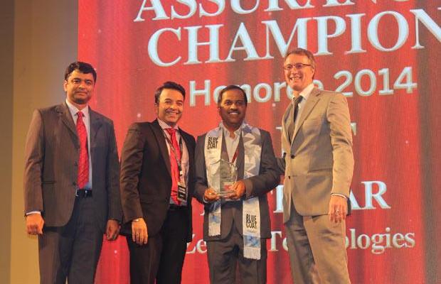 Business Assurance Champion: Ajit Pethkar, CTO & CIO of Zensar Technologies receives the CIO100 Special Award for 2014 in association with Blue Coat