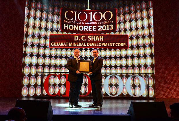 The Astute 100: D Shah, GM-IT of GMDC receives the CIO100 Award for 2013