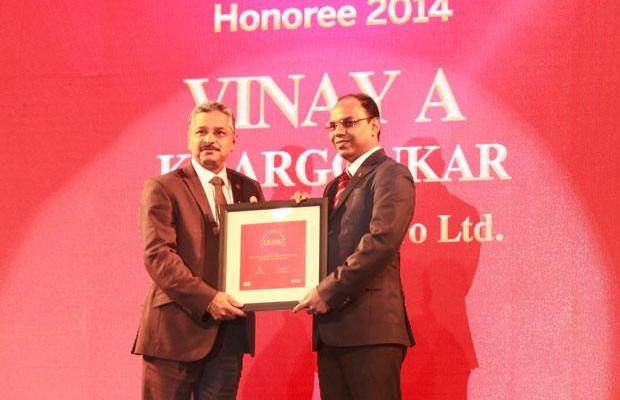 The Dynamic 100: Vinay A Khargonkar, Group CIO, L&T Heavy Engineering receives the CIO100 Award for 2014