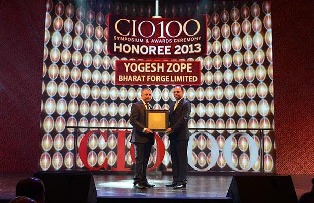 The Astute 100: Yogesh Zope, Group CIO, Bharat Forge receives the CIO100 Award for 2013.