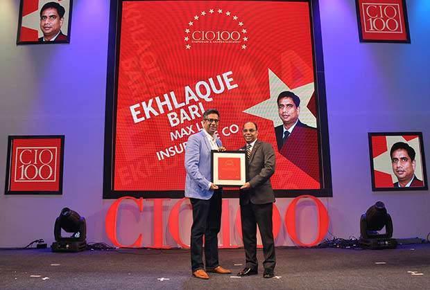 The Transformative 100: Ekhlaque Bari, EVP and Head-IT at Max Life Insurance receives the CIO100 Award for 2016