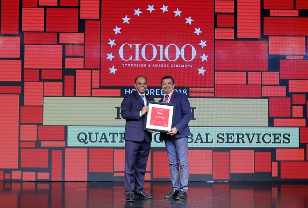 The Digital Architect: RP Rath, SVP-technologies, Quatrro Global Services, receives the CIO100 award for 2018