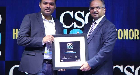 Akhil Verma, CISO of Airtel Payments Bank receives the CSO100 Award for 2019