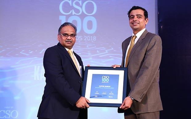Karthik Shankar, Director, IT Governance at RRD receives the CSO100 Award for 2018