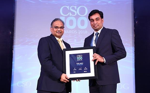 Clyde Joseph, Vice President, CIO Private and Commercial Clients at Deutsche Bank AG receives the CSO100 Award for 2018
