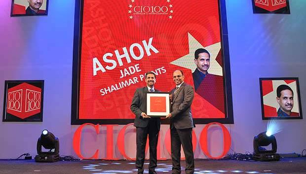 The Transformative 100: Ashok Jade, CIO of Shalimar Paints receives the CIO100 Award for 2016