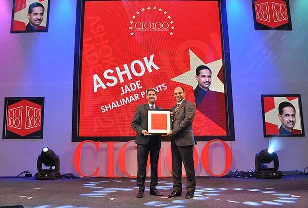 The Transformative 100: Ashok Jade, CIO of Shalimar Paints receives the CIO100 Award for 2016