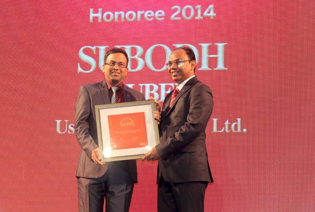 The Dynamic 100: Subodh Dubey, Group CIO & Sr. VP- IT of Usha International receives the CIO100 Award for 2014