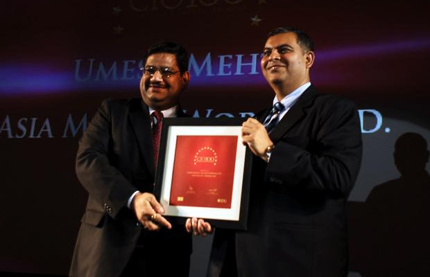 The Agile 100: Umesh Mehta, VP-IT of AMW Motors receives the CIO100 Award for 2010